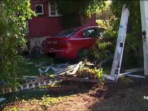 Resident terrified after ute ploughs into her yard