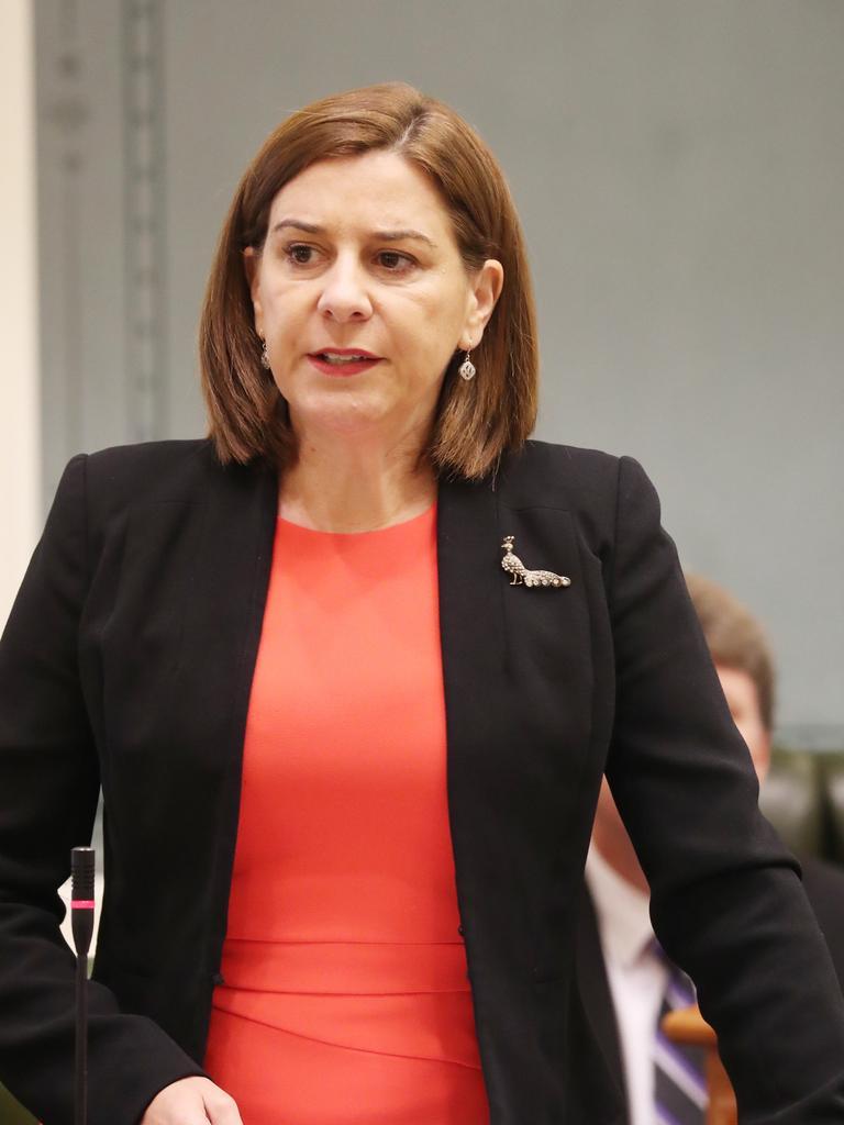 LNP Leader Deb Frecklington at state parliament. Picture: Annette Dew
