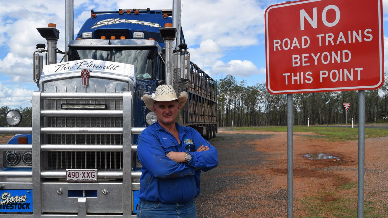 TRANSPORT WOES: Rubyvale transport business owner Barry Sloan says a road restriction costs him hundreds of dollars a trip.