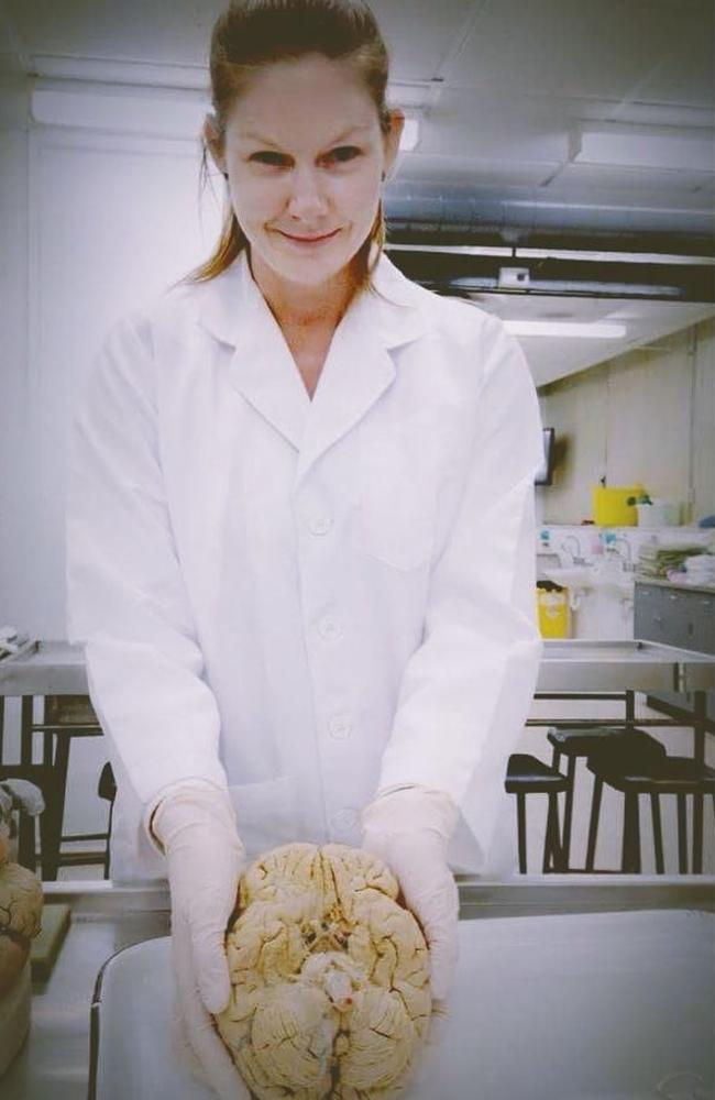 The 40-year-old is currently a PhD scholar in neuroscience. Picture: Supplied/Tanya Duckworth