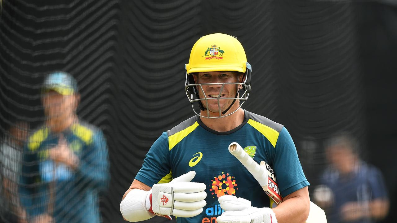 Australian Mens ODI player David Warner during a training session at the SCG in Sydney, Wednesday, March 11, 2020. (AAP Image/Joel Carrett) NO ARCHIVING