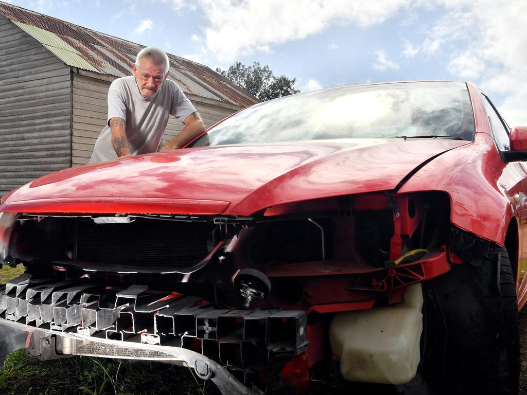 Kenilworth grandfather Greg Tapscott whose car was written off by a freak landslide has fallen into depression claiming the government department responsible are ignoring his cry for help. Photo: John McCutcheon
