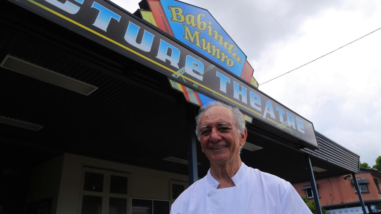 Fred Lizzio outside the Babinda Munro Picture Theatre. Picture: Joshua Davies
