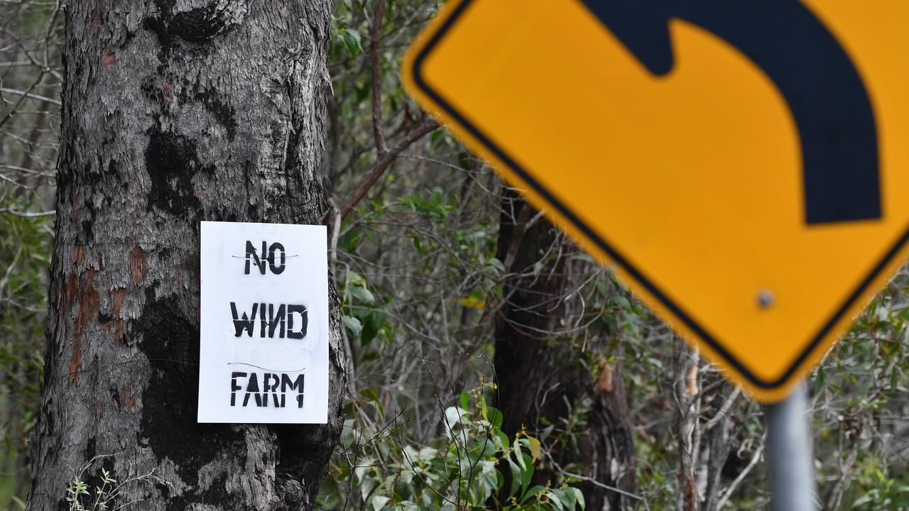 No wind farm sign on the road into Maroom. Photo: Alistair Brightman