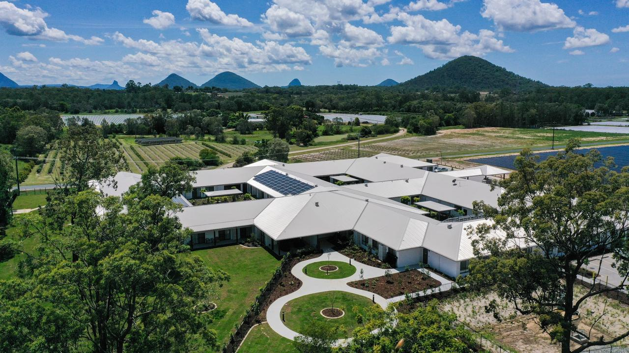 Aerial view of Beaumont Care's new aged care home at Wamuran.