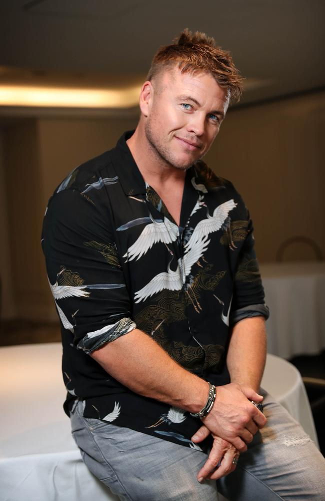 Luke Hemsworth is in Australia to promote the new season of HBO series Westworld. Picture: Richard Dobson