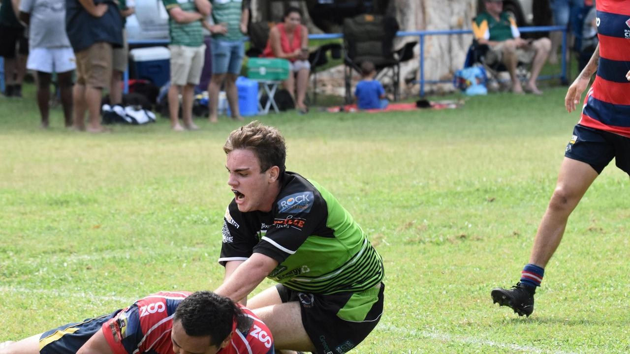 GREAT START: The Proserpine Whitsunday Raiders are looking good after a 21-5 win over the Mackay City redmen. Pictured is Ben Young in his first year with the Raiders. Picture: Lovesit Photography