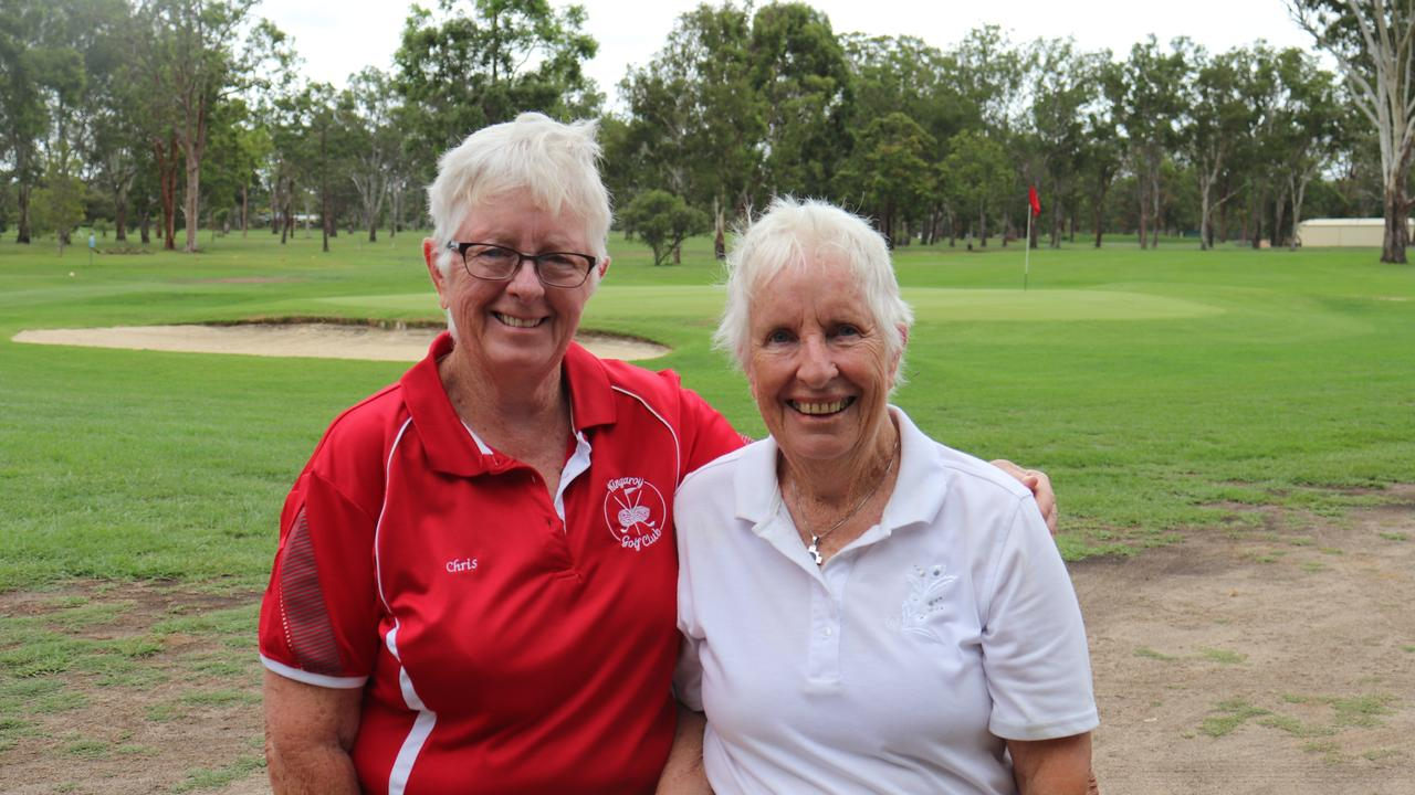 Chris Edmunds and Jan Edwards are both looking forward to playing in the Kingaroy Golf Club's Peanut Harvest Week of Golf next week. (Picture: Contributed)