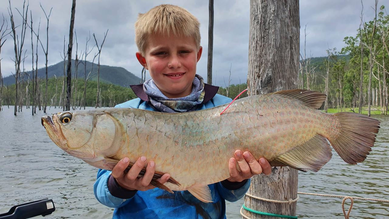 BIG CATCH: Toby Hulme with one of the many fish caught by his family at the event. Picture: Contributed