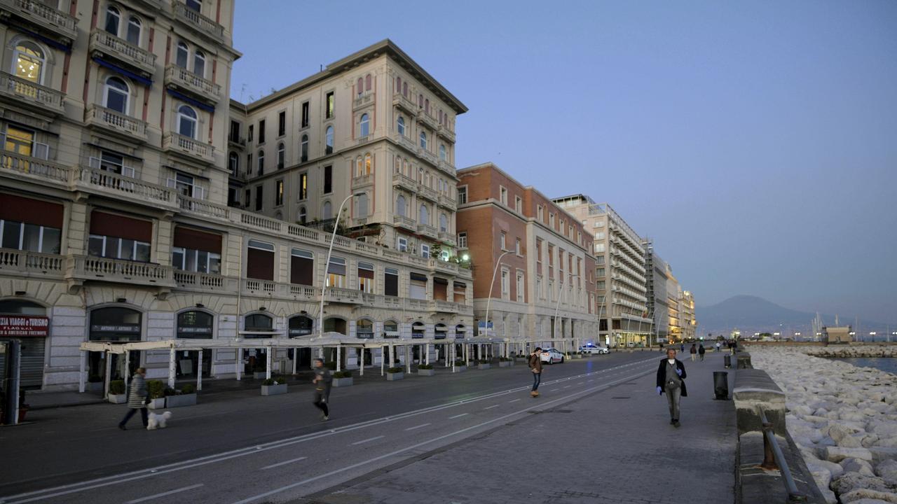 Italian streets are empty. Picture: Alessandro Pone/LaPresse via AP