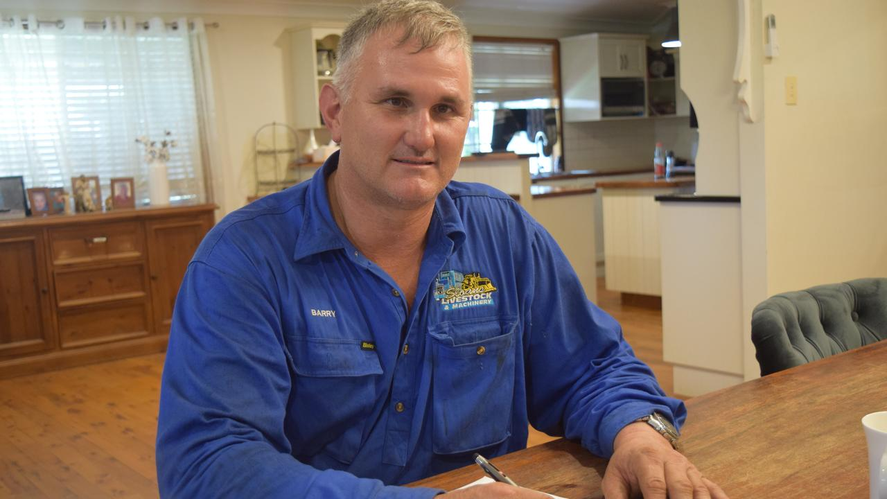 Barry Sloan has tried for six years to get a permit to drive road trains on Capella Rubyvale Road.