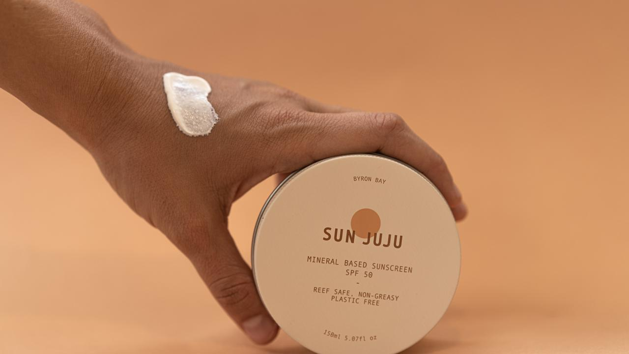 Sun Juju is a plastic free, SPF50 reef safe sunscreen that rubs on clear. It's created as part of a mission to eliminate single use sunscreen bottles and the 14,000 tonnes of toxic sunscreen chemicals entering the ocean each year.