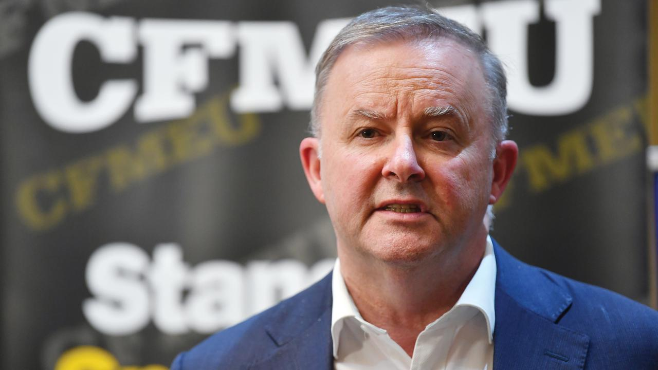 Opposition Leader Anthony Albanese at the launch of the McKell Institute report on Wage-Cutting Strategies in the Mining Industry. Picture: Tony Martin