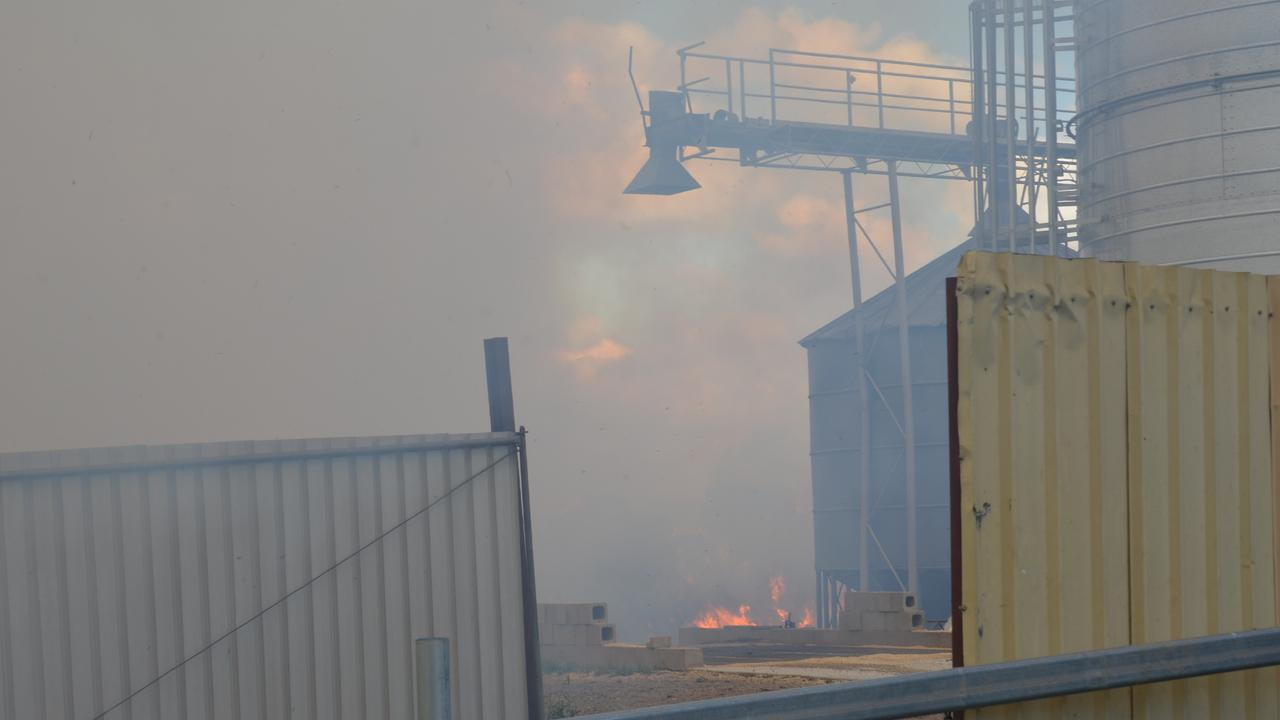FEEDLOT FIRE: Crews are working to contain hay bales on fire at Freestone Feedlot.