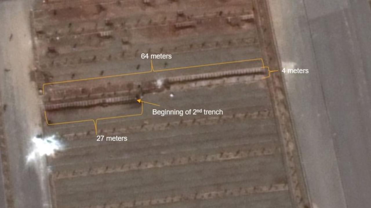 Maxar satellite imagery over Qom, Iran on March 1. Picture: Twitter/DDaltonBennett