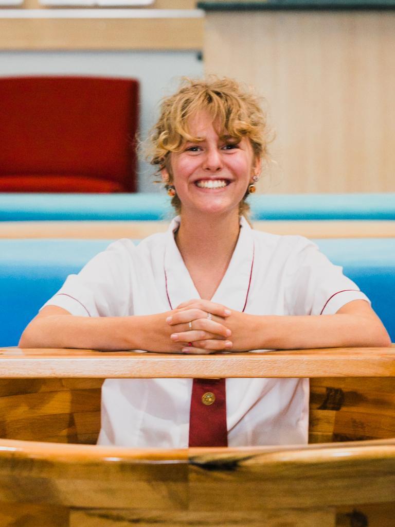 Former McCauley Catholic College student Katelyn McDonald undertook a massive task - making a bathtub for her HSC woodwork piece.
