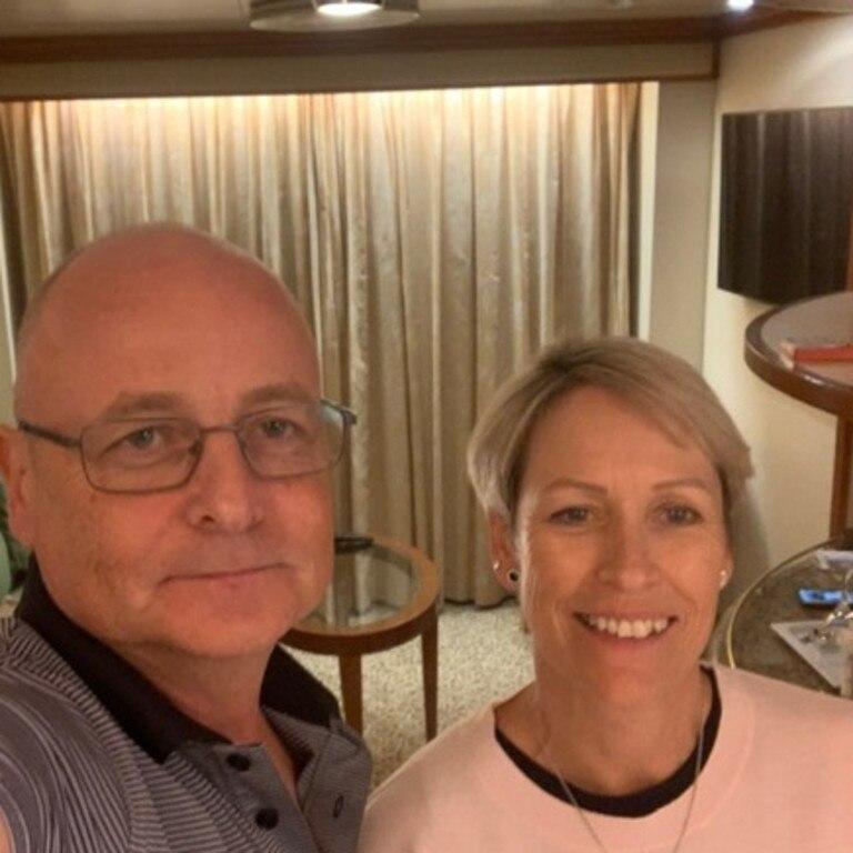 Paul and Jacqueline on board the Diamond Princess cruise ship.