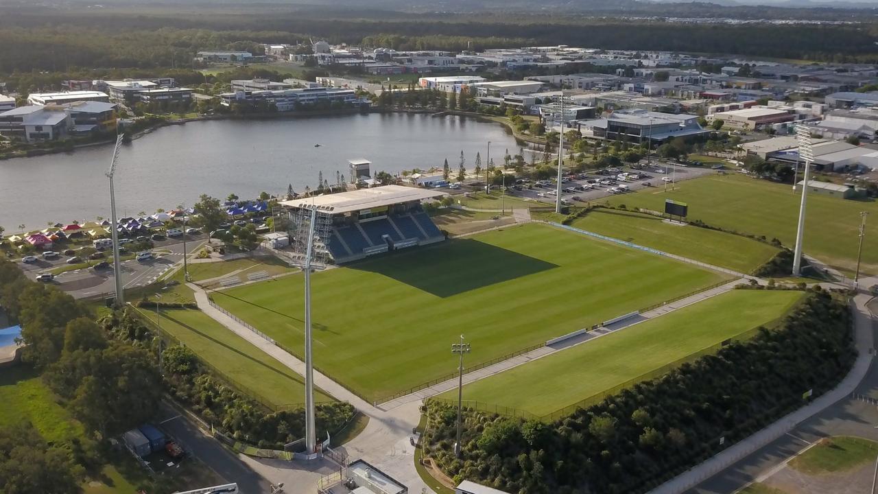 SUNSHINE COAST STADIUM: An aerial view of Sunshine Coast Stadium.