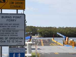 Ferry return delayed