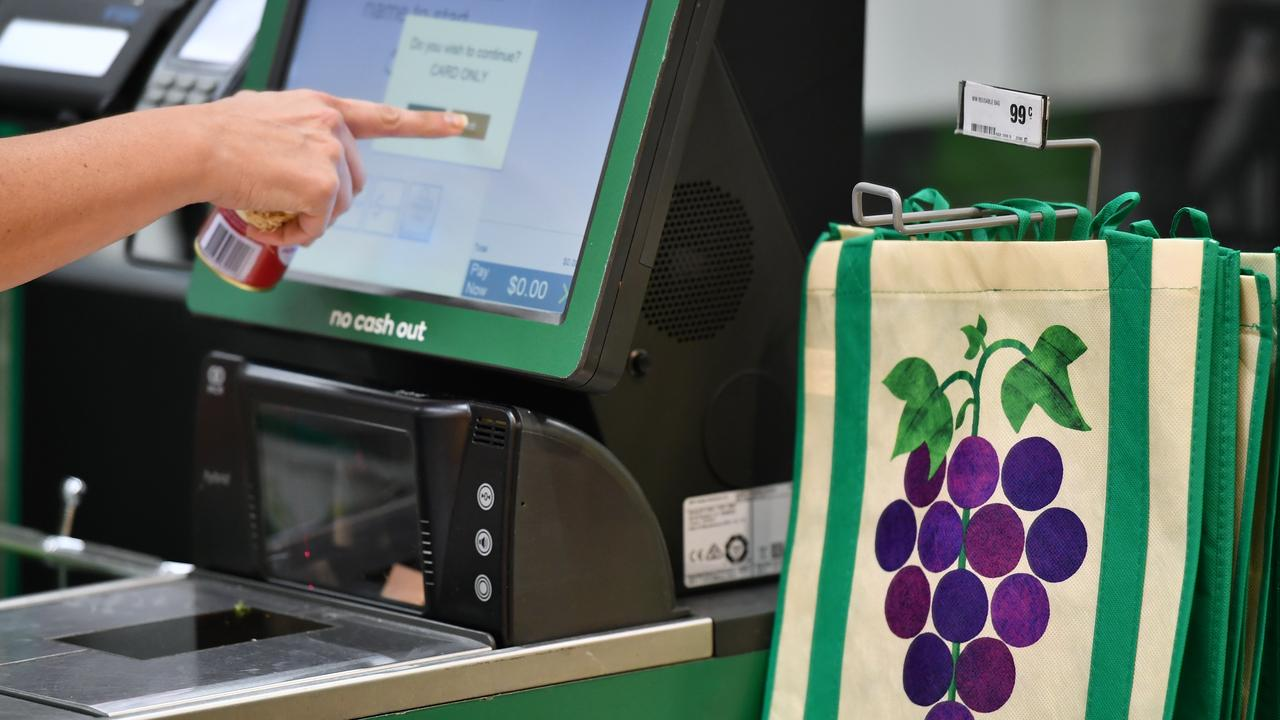 GROCERY HELL: Police are working to charge offenders who pushed a trolley into a Woolworths employee and stole goods from the Fernvale store. Photo: AAP/Joel Carrett