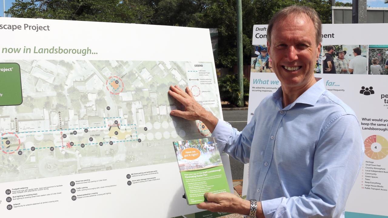 Cr Rick Baberowski releasing stage two of the Draft Place Making master plan for Landsborough.