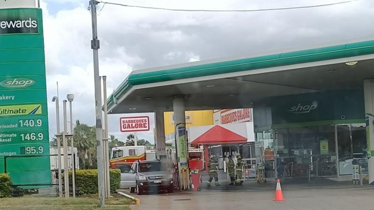 EVACUATED: Emergency services responded to a possible fuel leak at BP in North Rockhampton.