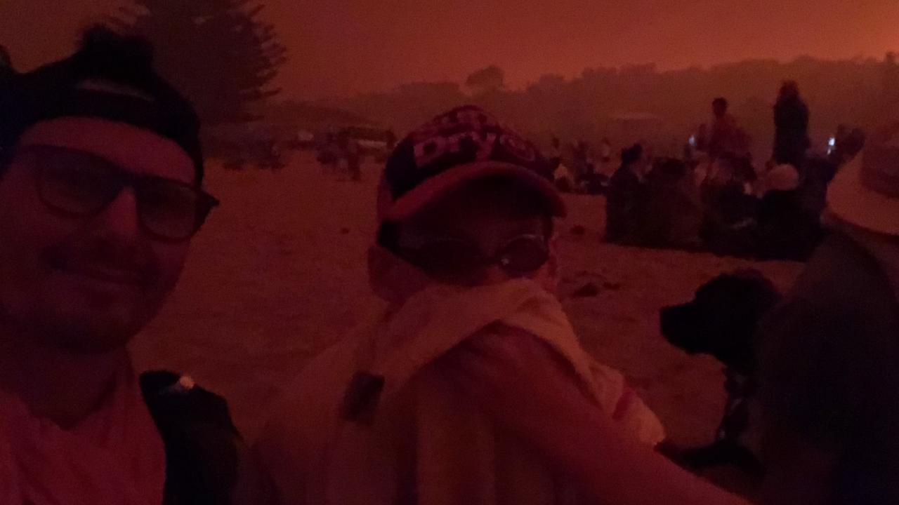 Using goggles to shield from the smoke …