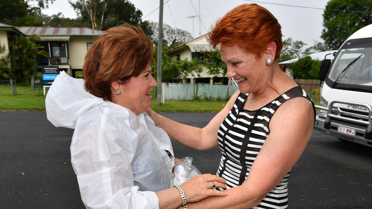 One Nation leader Senator Pauline Hanson (right) and former Bundamba MP Jo-Ann Miller (left). Political expert Dr David Williams says Labor will hold the seat in the upcoming by-election, but at a cost to its primary vote. (AAP Image / Darren England)