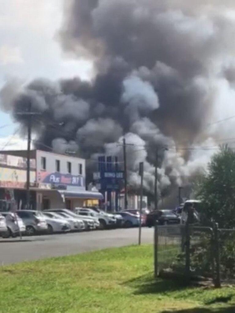 An employee was missing in the blaze.