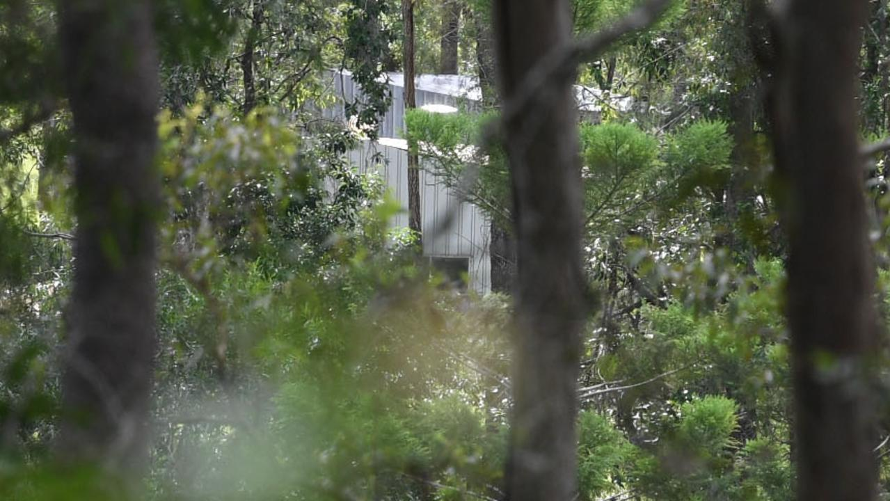 A shed on the property under investigation at Amamoor.