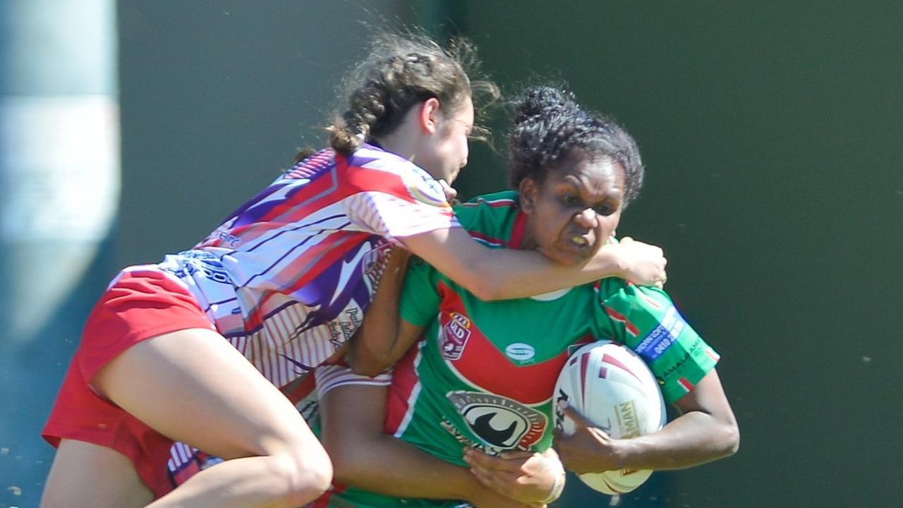 Tannum's Vassa Hunter. Womens Rugby League Grand Final 2017 - Emu Park vs Tannum Seagals.