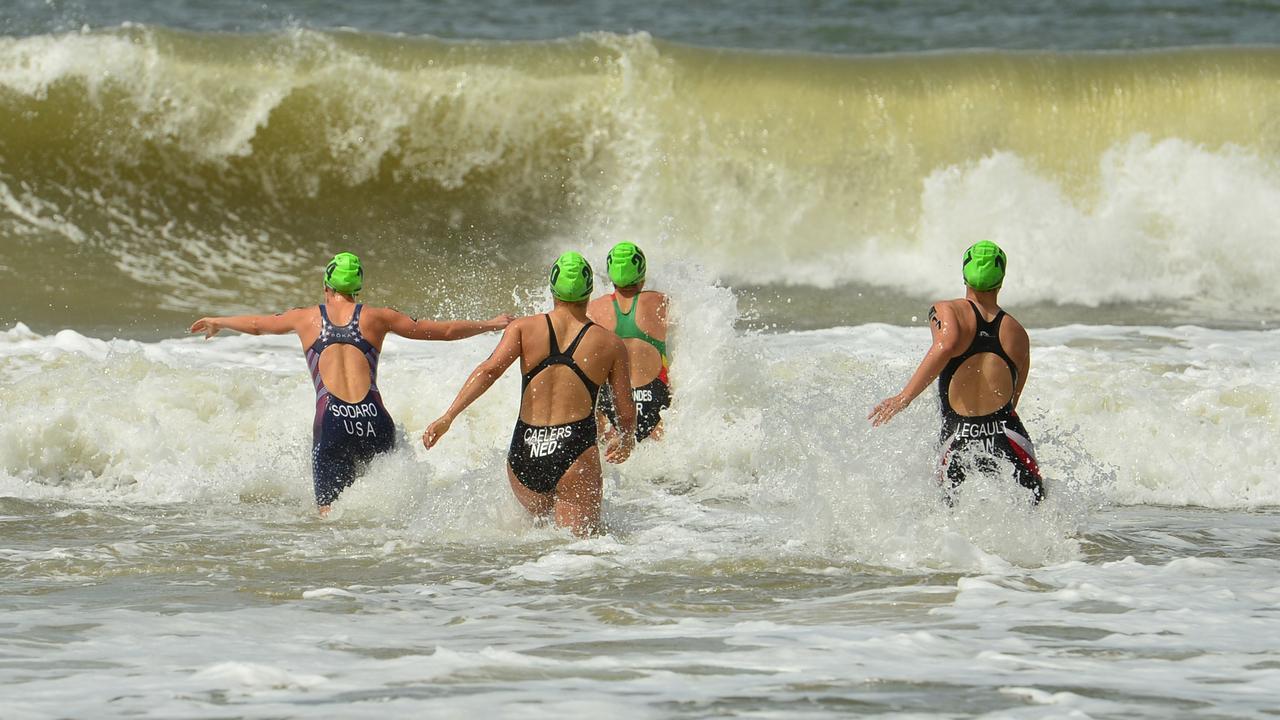 The swim leg of Sunday's Mooloolaba Triathlon has been reduced.