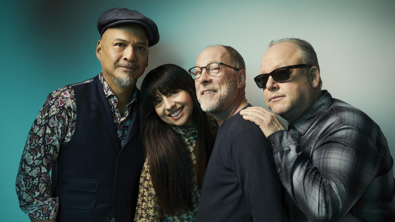 US rock band The Pixies L-R: Joey Santiago, Paz Lenchantin, David Lovering, Black Francis.