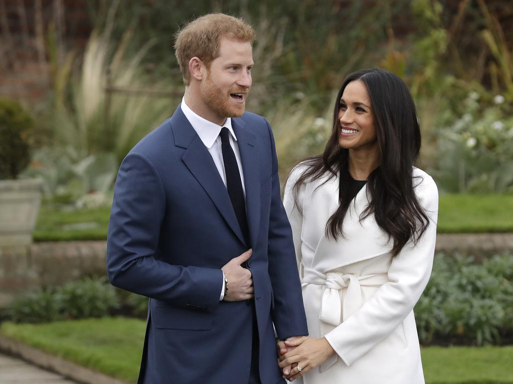 Things started so well for Prince Harry and Meghan Markle when they announced their engagement in 2017. Picture: AP