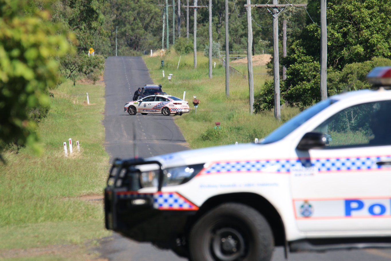 HOMICIDE: Police remain on scene and have blocked Markai Rd, following the discovery of a man's body. Picture: Dominic Elsome