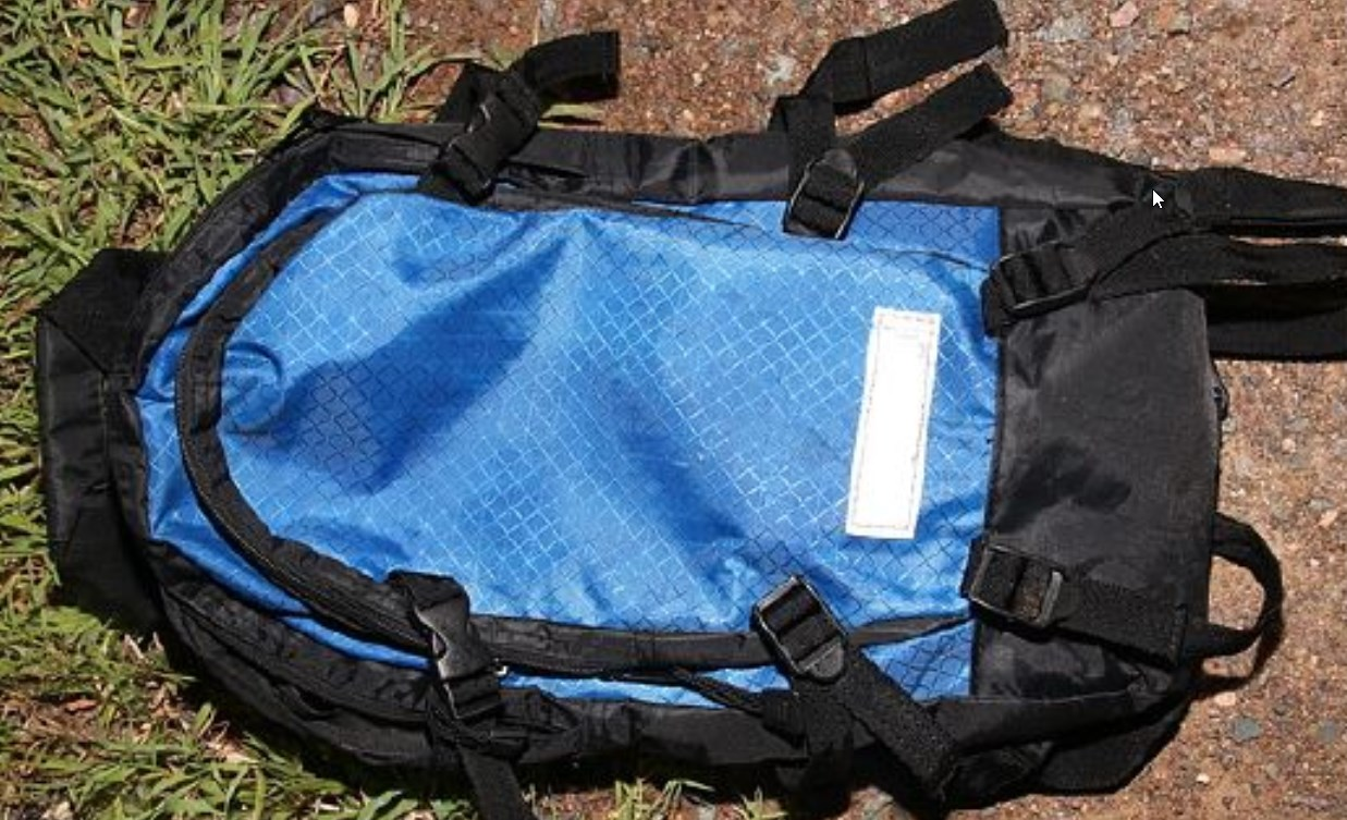 Anyone who may have seen this blue backpack in Sarina near the scene of the assault should contact police immediately.