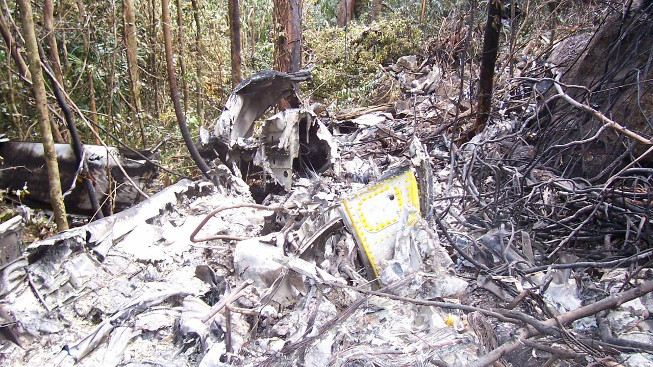 The wreckage of the 2005 plane crash at Lockhart River which claimed 15 lives.