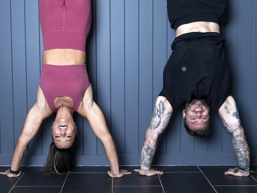 It's a rush – but Jenna Louise says the handstand is not for beginners. Picture: Gary Ramage