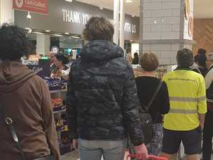 'Calm down': Anarchy hits supermarkets