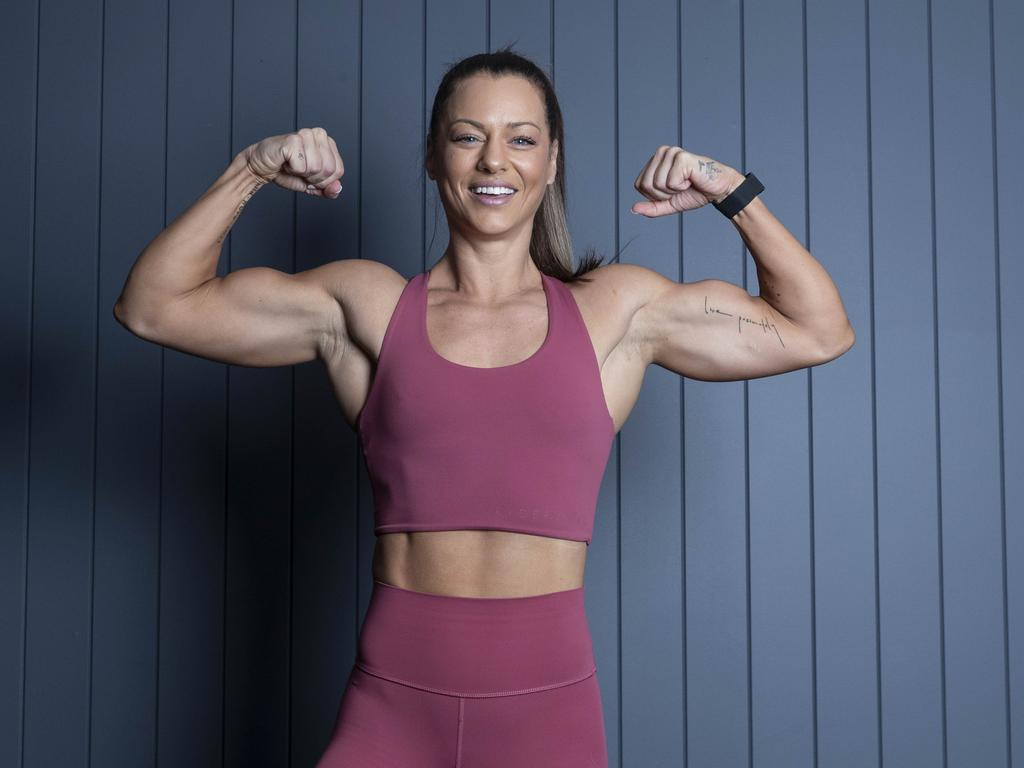 Jenna Louise shows you how to stay fit at home during a coronavirus lockdown. Picture: Gary Ramage