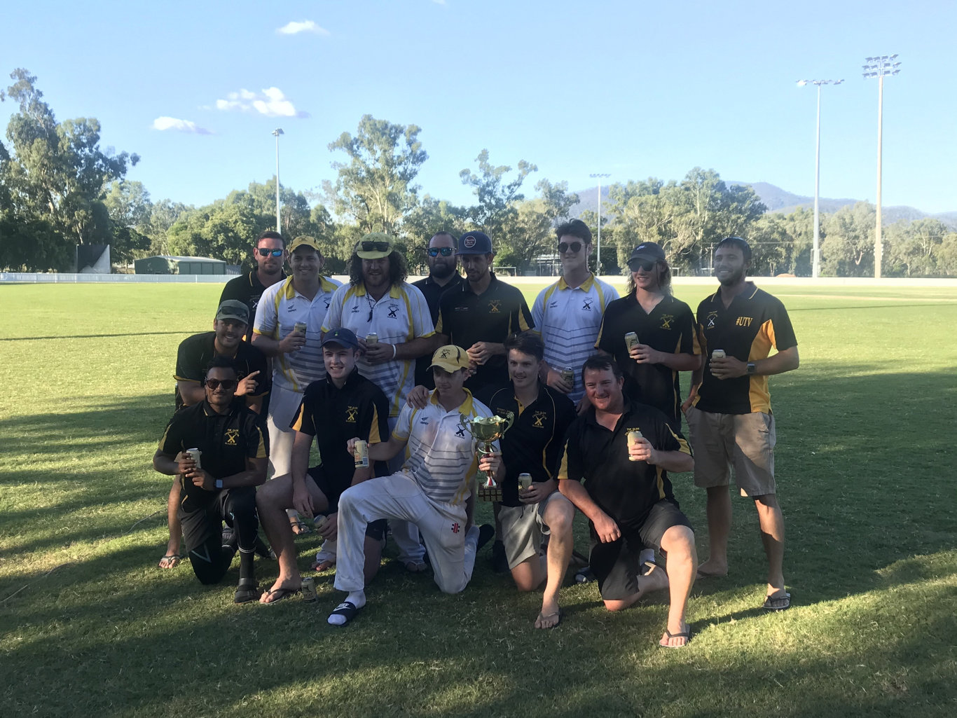 The victorious The Glen premiership team