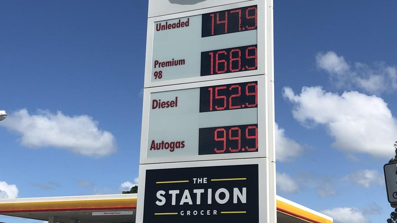 Shell service station in Goonellabah on Friday.