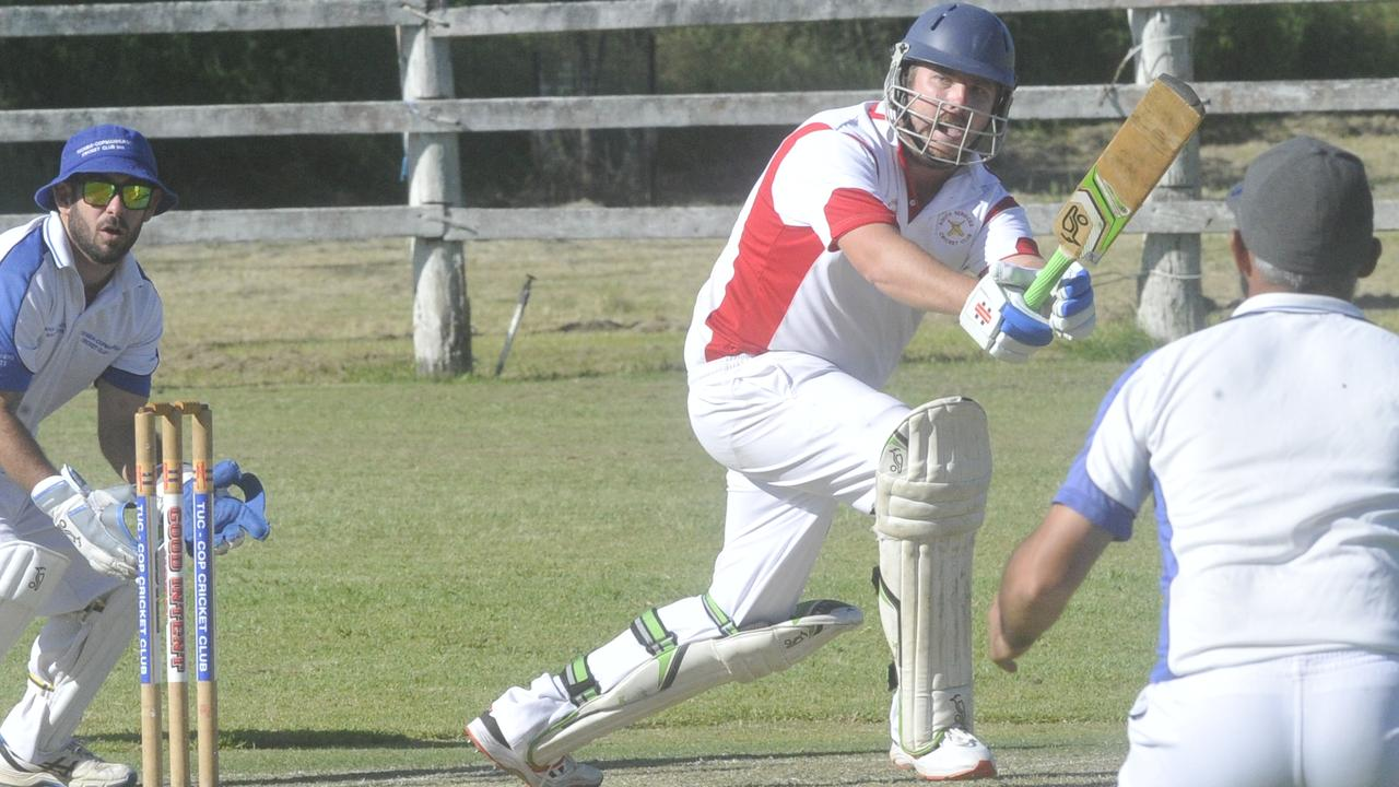 Chris Cleaver scored 23 for South Services in the 2019/20 Clarence River Cricket Association GDSC Premier League major semi-final win over minor premiers GI Hotel Tucabia-Copmanhurst at Ulmarra Showground on Saturday, 14th March, 2020.