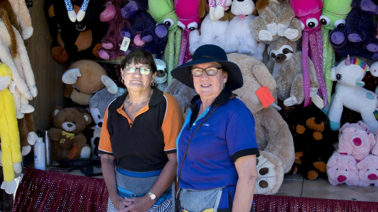 Oakey Show, Debbie Cronk (left) and Leann Allan run a show rides and amusement business. . Photo Bev Lacey
