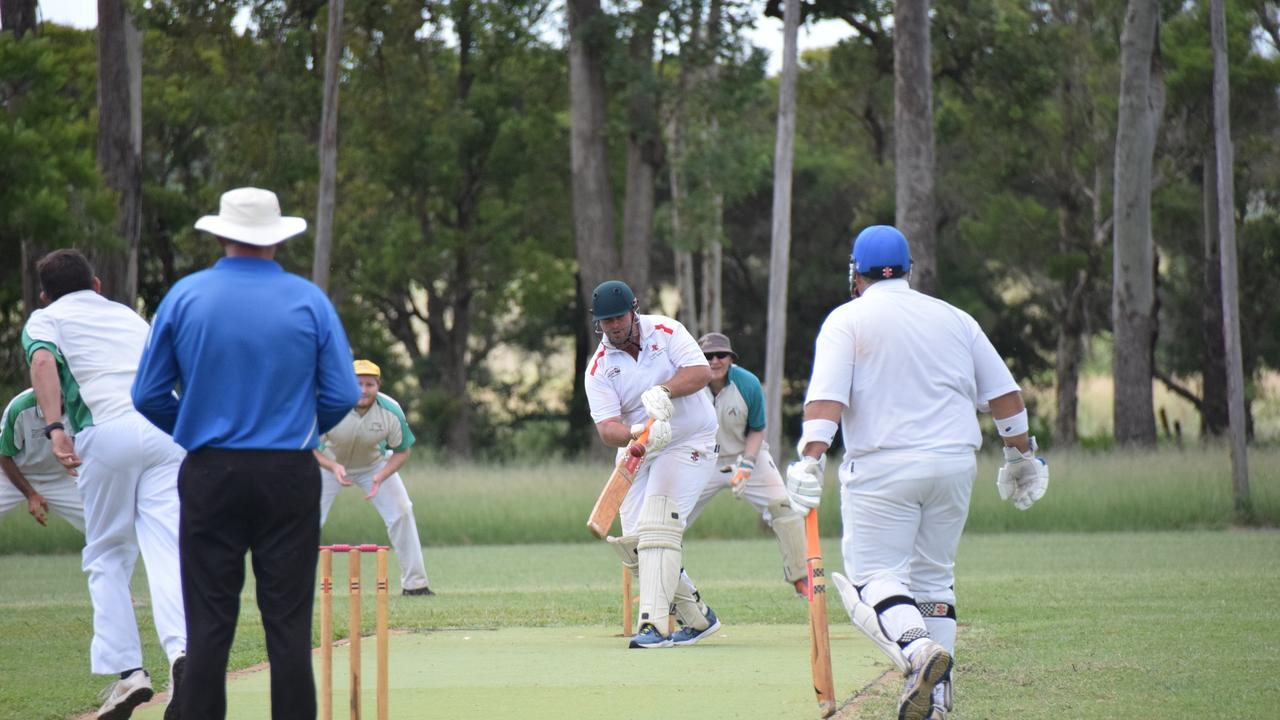 The captain Hayden Wieck did his best to score some runs after the first five batsmen were dismissed early. (Picture: Tristan Evert)