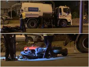 'Horrific': One dead as motorcycle and streetsweeper crash