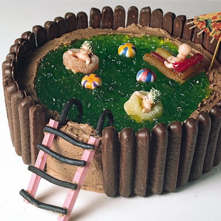 The popular swimming pool cake. Picture: Australian Women's Weekly