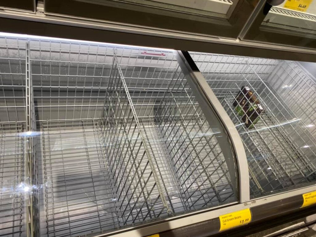 Others shared photos of empty freezers in stores. Picture: Facebook