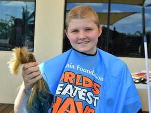 Leukaemia survivor shaves for a cure