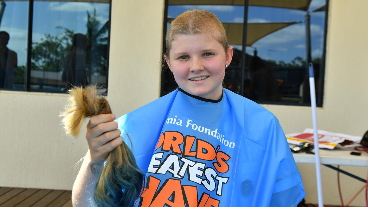 Sierra Knopke shaved her hair to help raise funds for Leukaemia research. Picture: Sam Reynolds